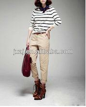 fashion ladies' stripe Back cardigan coat 2013