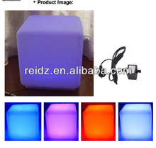 Remote control RGB color changing beautiful cubes plastic bar stool covers