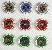 Lazer Sticker Poker Chips, Customized Casino Chips,