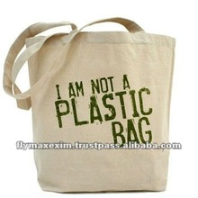 Eco Friendly Plain Cotton Tote Bag