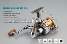 High quality spinning Fishing Reel with high strength plastic body and aluminium handle