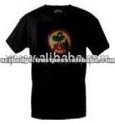 Cartoon Crocodile Black Color LED Flashing T-Shirt