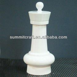 custom resin white chess pieces