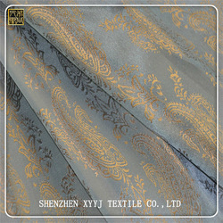 High quality two-tone polyester viscose blend jacquard fabric