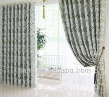 European Leaves design jacquard blackout curtain fabric ready made curtain