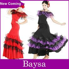 Femmes robe de danse latine salle de bal robes fille ld-004