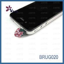Wholesale Cute Shamballa Style Dust Plug For Mobile Phone