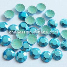 hot fix octagon,heat transfer octagon-5mm sky blue
