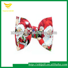 Handmade cartoon funny bow tie with dots pattern