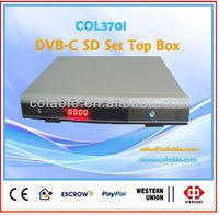Set top box cable tv decoder,digital tv analog converter COL370i