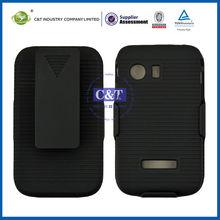 C&T Pure black flip cover case for samsung galaxy y s5360