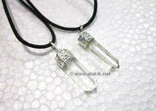 Crystal quartz Healing point Pendant on cord
