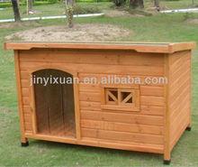 Backyard Large Wooden Dog Kennel Asphalt Roof / Puppy Dog House Designs