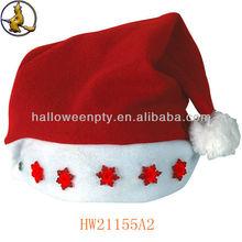 Newly Customized Size Dark Red Flashing Santa Hat