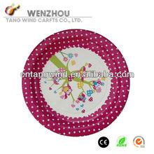 Polka Dot Paper Plate