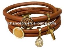 Alloy hand bracelet sweet stainless steel bracelet 316l stainless steel rubber bracelet