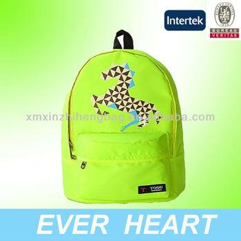 Grass Green color mochila walmart bag,mochilas school bags with horse printing