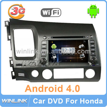 7'' Android 4.0 Car GPS DVD for Honda CIVIC 2006-2011 Multimedia Radio with 3G internet Free WiFi Modem