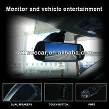 "ACAuto reversing back-view shift 7"" rear view mirror touch screen car monitor"