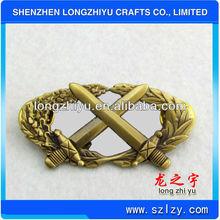 Longzhiyu make bronze antique gold sword challenge Military Rank Insignia Badges/custom lapel pin manufacturer in Shenzhen China
