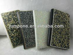 glitter design diamond Leather Wallet Case for Samsung Galaxy Note 2 II N7100