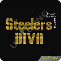 Steelers hot fix transfer rhinestone