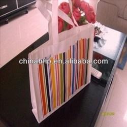 Decorative reusable foldable bag non woven fabric bag