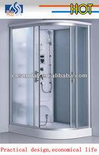 high quality complete luxury tempered glass aluminium frame steam bathroom supplier