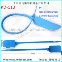 large flag big tag sample seal self lock pull tight type make plastic security sealing string KD-113