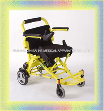Folding light weight aluninium electric wheelchair lithium battery pack
