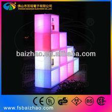 nice designs LED pure white corain modern wine bar cabinet