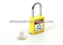 digital padlock with steel shackle