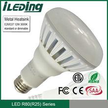 ETL/FCC/CE/SAA 220-230V E27 R80 LED Bulb 12W