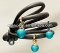 De un solo pulsera de los granos separadores de metal para la pulsera de moda 2015 pulsera del acoplamiento de cadena