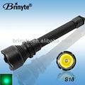 Brinyte S18 CREE LED poder más elevado de la viga de aluminio de Color LED del CREE luz verde de la linterna