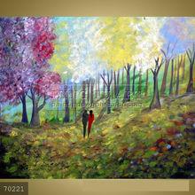 Handmade Impressionist Scenery Canvas Art oil painting