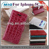 2013 New product crocodile wallet leather case for iphone 5C, leather case for iphone 5c