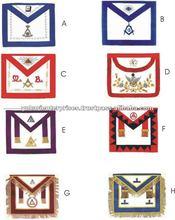 Embroidred Hand Machine Made Bullion Patches Logo Regalia Club School Fashion Rank Badges Masonic Apron