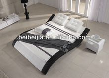 promotion price high quality silver pu leather bed E131