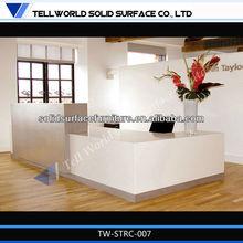 modern design solid surface models of office reception desk