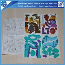 3d plastic puzzle card/3d pp puzzle