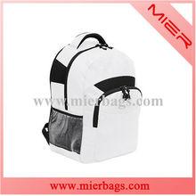Sport backpacks in white 600D Polyester