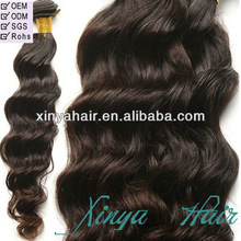 Tangle and shed free remy human hair,most popular hair extension piece