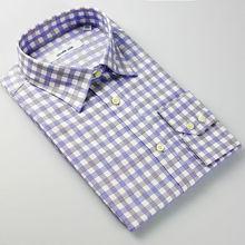 2016 new design fashionable men casual check shirt
