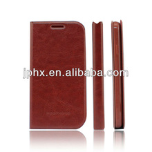 New Slim Wallet Stand Case Flip Back Mobile Phone Leather case for SAMSUNG GALAXY S4 I9500 brown