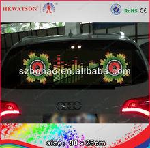 high quality newest sound activated EL car sticker car window decoration