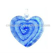 Heart Shape Flower Murano Glass Pendant
