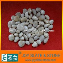 white polished pebble rocks