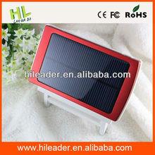 Mobile phone 5000mah solar power bank charger