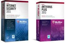 McAfee internet security y Antivirus plus 2013